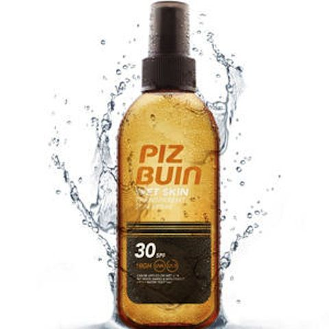 169793 Piz Buin Wet Skin FPS30 Spray Protección Alta