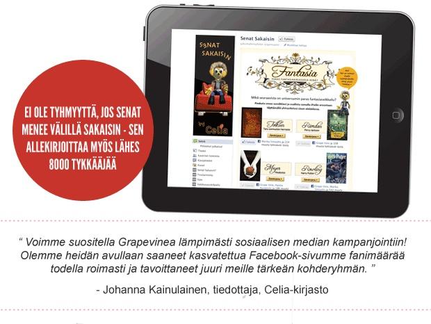 Celia-kirjasto / Facebook-kampanja