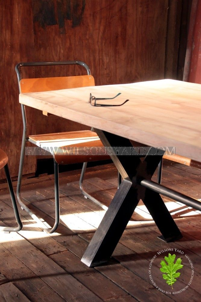 Industrial Table with Axe Legs | Wilsonsyard.com