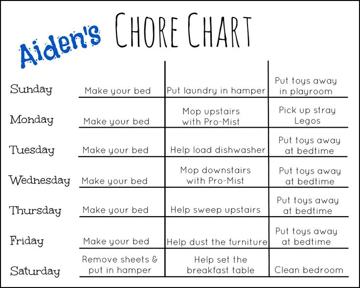 Best 20+ Chore Chart Template Ideas On Pinterest | Room Cleaning