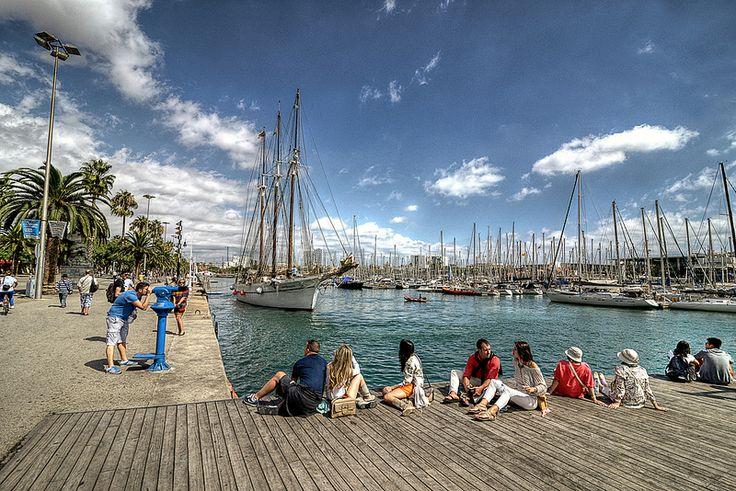 España. Barcelona. Puerto deportivo. Explore 20 de septiembre de 2013