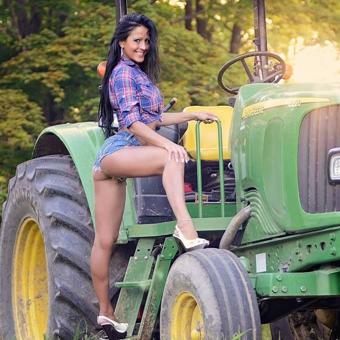 Answer sexy girl on john deere tractor that