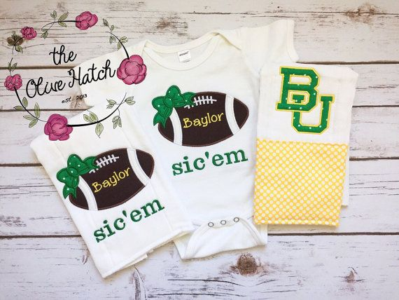 Bringing Home Baby Football Outfit Applique by TheOliveHatch