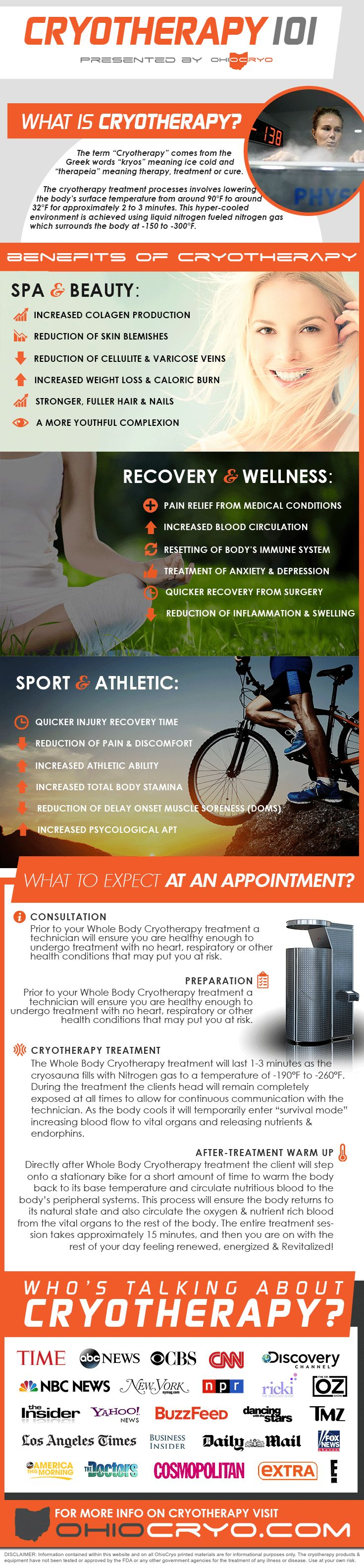 Cryotherapy 101 from OhioCryo: Whole Body Cryotherapy is the latest trend that has seen a boom in popularity thanks to its use by celebrities and athletes alike. But what is Whole Body Cryotherapy? OhioCryo breaks down the basics, including what cryotherapy is, the benefits of cryotherapy, the treatment process and more! #cryotherapy #cryo # WBC For more information visit http://OhioCryo.com
