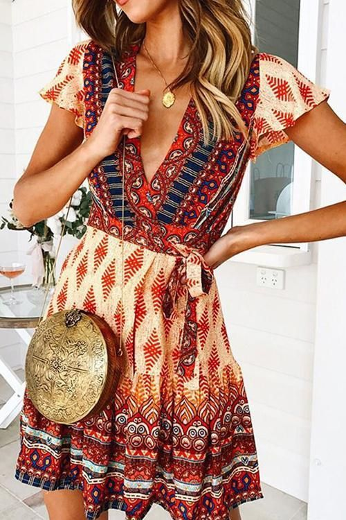 Forever Your Girl Boho Print Mini Dress – 3 Colors