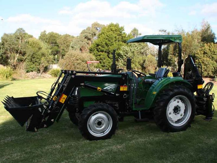 small farm tractor 40hp tractor front end loader backhoe slasher | TANNERTRACK