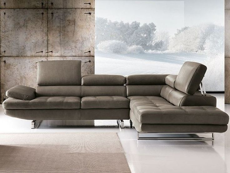 Sectional sofa with chaise longue HABART By Franco Ferri Italia