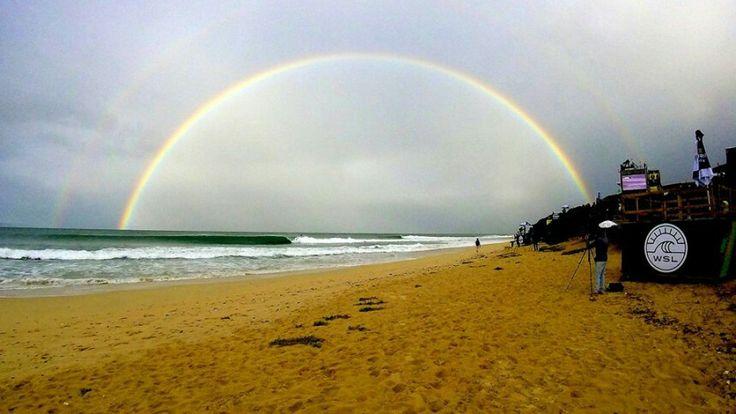 Rainbow over Jeffrey's Bay -  July 2016