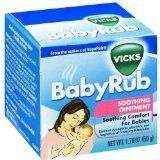 Vicks Baby Rub - yup, it works...opens up nasal passages and eases cough, which means baby gets some sleep!