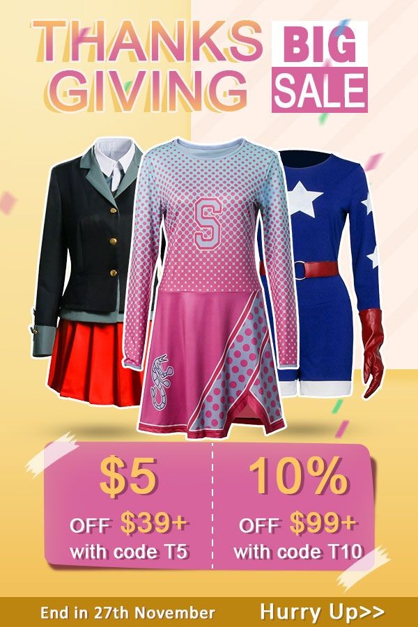 Thanksgiving Day S Big Sales Halloween Costume Anime Cosplay Costumes Costume Props