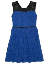 Starlight Lace Dress, Midnight Blue - Farmers #fashionblogger #youngandpolished #lace #workready
