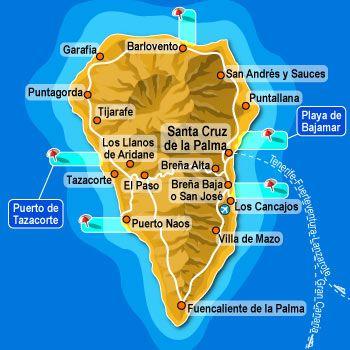La palma es la segunda isla más alta de Canarias y ha tenido actividad volcánica en el volcán Teneguía que tuvo su última erupción en 1971. En La Palma hay el Observatorio del Roque de los Muchachos dónde se encuentra el Gran Telescopio Canarias, el telescopio óptico más grande del mundo.
