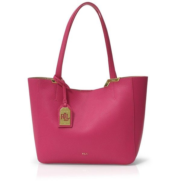 Lauren Ralph Lauren Acadia Tote (6,910 INR) ❤ liked on Polyvore featuring bags, handbags, tote bags, bright rose, ralph lauren tote, ralph lauren, tote bag purse, lightweight handbags and purple tote bags