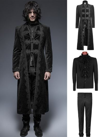 devilnight.co.uk - Gothic -  Men s Suits ... Black Gorgeous Vintage Style  Gothic Suit for Men 0f17a47984