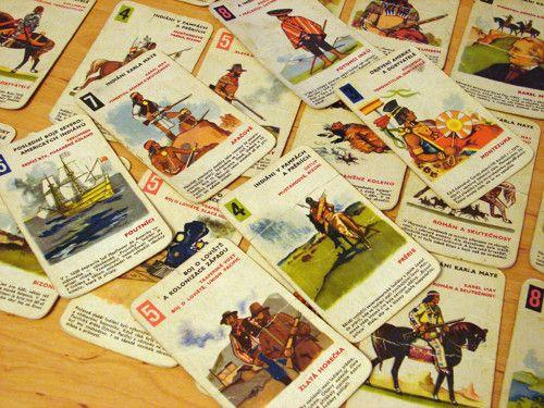 Poklad na Stříbrném jezeře - kvarteto, karty