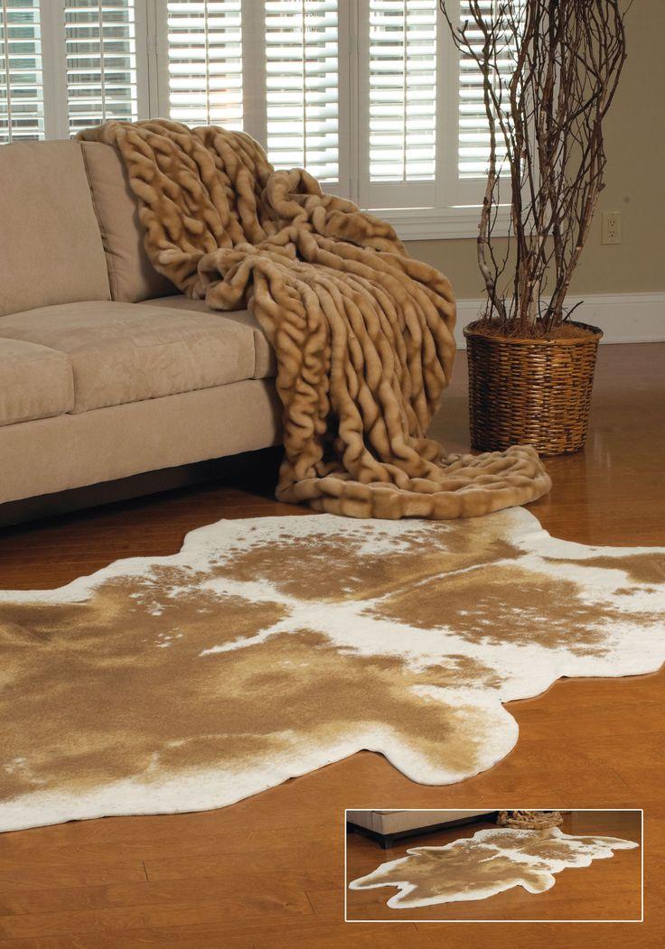 1000 ideas about hide rugs on pinterest rugs cowhide - Faux animal skin rugs ...