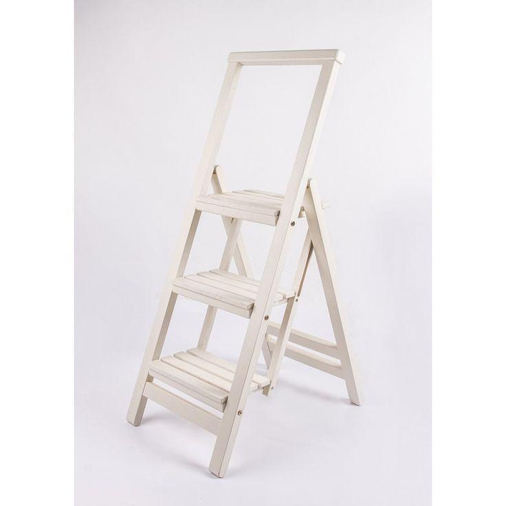 Стул Стремянка белая. Купить деревянная стремянка, белая, выгодная цена, характеристики, фото / интернет-магазин мебели Планиметрия