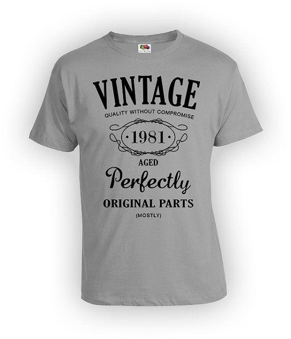 35e verjaardag Party Shirt aangepaste 1981 grappige door GrumpyGear