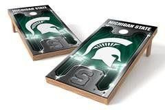 Michigan State Spartans Single Cornhole Board - Plate