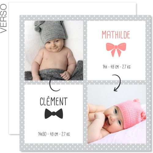 Connu 110 best Faire-part de naissance images on Pinterest | Visual  BU17