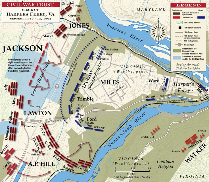 Harpers Ferry - September 13-15, 1862