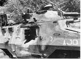 Ratel 13B , 4th January 1984 hit by T54/55 at Cuvelai Ops Askari