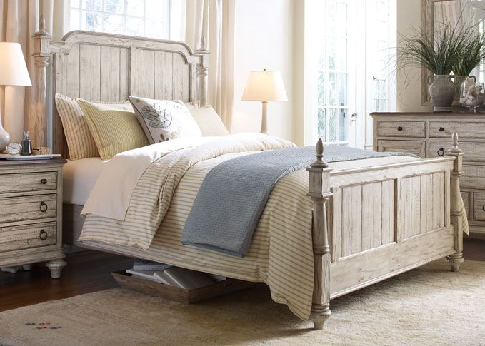 This Solid Pine Westland Queen Bed By Kincaid Is Distressed And Casual Made From Solid