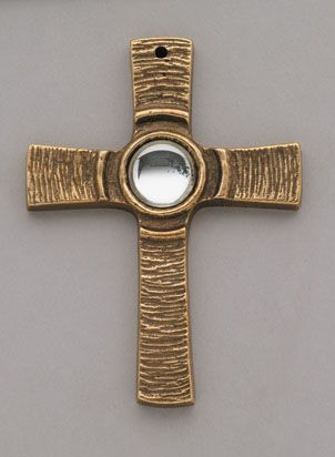 Kreuz mit klarem Stein von Peters