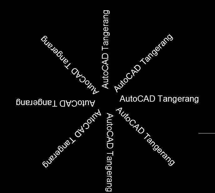 Cara Memutar Teks di AutoCAD.