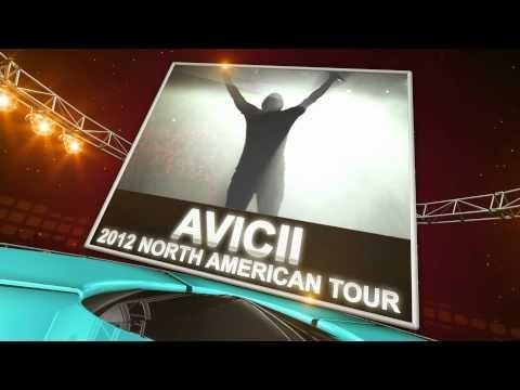 Avicii 2012 North American Tour. Swedish electronic dance superstar DJ Avicii has announced his 2012 North American fall tour. For Avicii tickets and tour schedule, visit: http://www.ticketcenter.com/avicii-tickets or call 1-888-730-7192 (toll free)