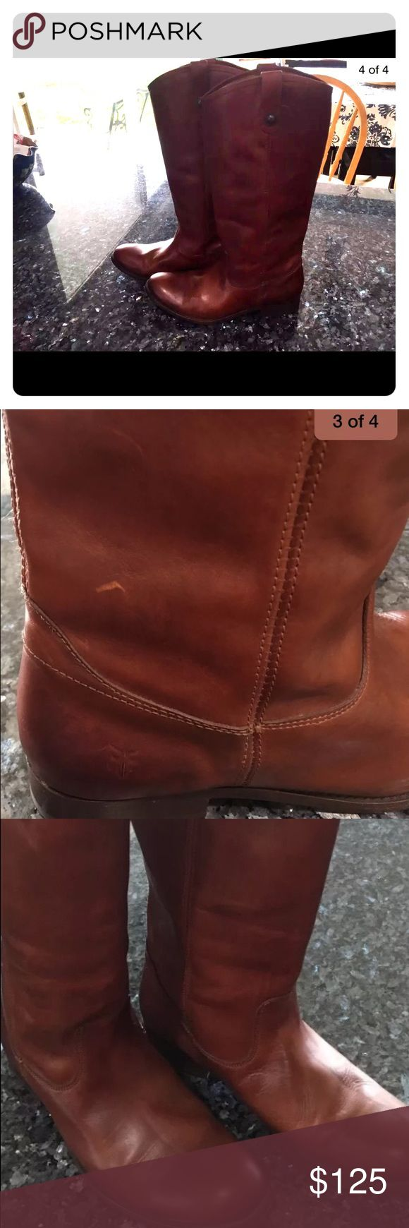 Women's Frye riding boot extended calf version Size 11, excellent condition, minor imperfection as shown in picture. Frye Shoes Winter & Rain Boots