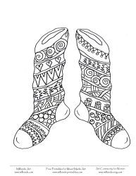 Free Christmas Coloring Page Stockings