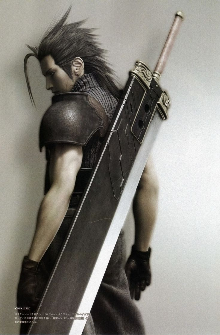 Final Fantasy - Zack (Technically from a video game, but if we count Advent Children, then it works on this board too)
