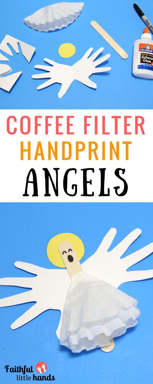 Coffee Filter Angels Kids Craft