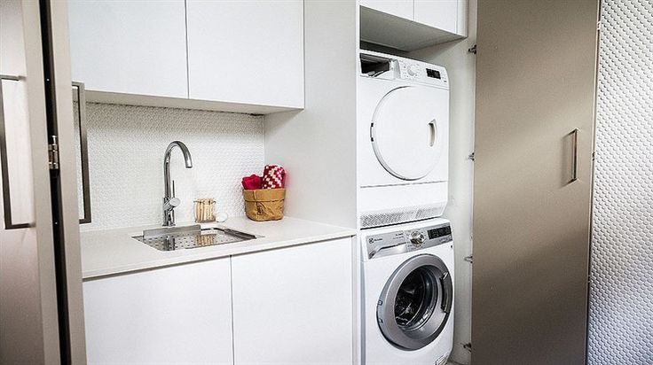 Michael + Carlene's 'captivating' laundry | The Block Glasshouse | laundry cupboard, toilet in laundry