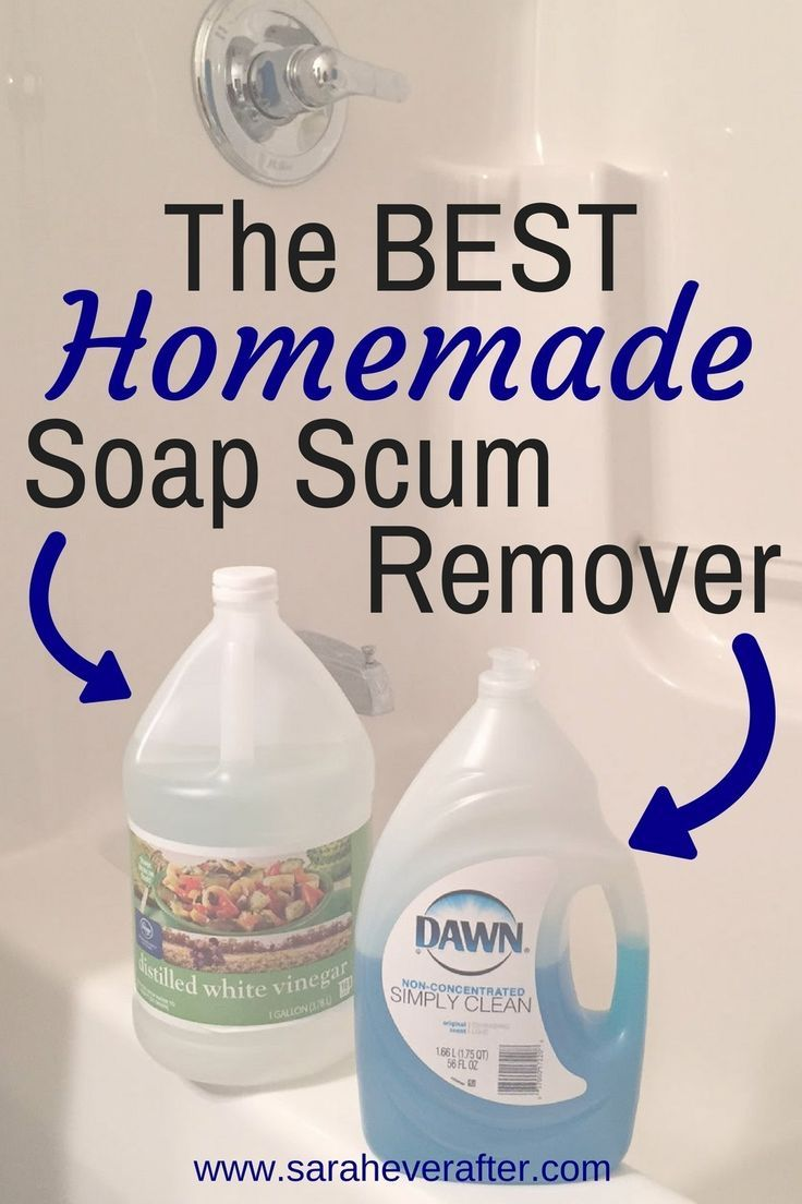 The Best Homemade Soap Scum Remover Recipe Homemade Shower