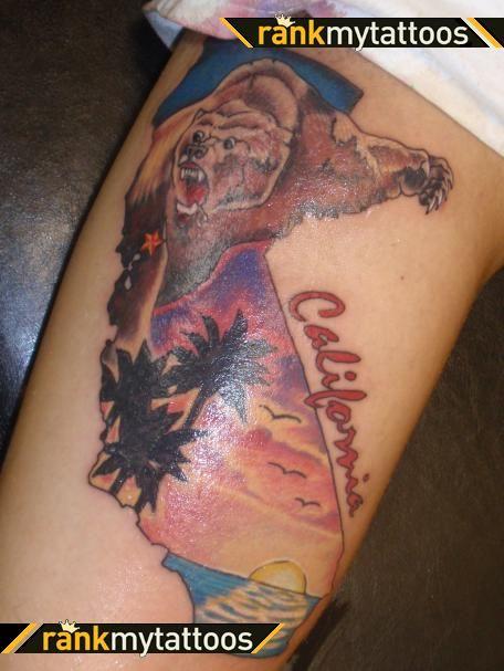 beautiful-california-bear-tattoo-design.jpg (456×607) by Art at la mancha Gallardo