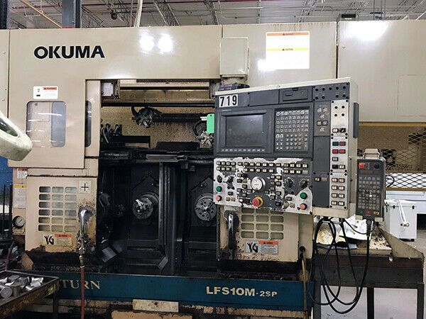 Sponsored)(eBay) Okuma LFS10-M2SP - Dual Spindle Lathe (2003) | CNC