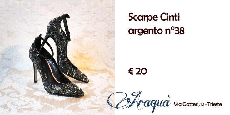 Scarpe n°38 argento Cinti € 20