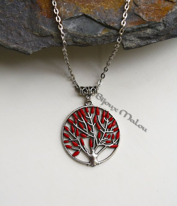 Heart Tree Necklace Game of Thrones Jewellery Summer Special Long Necklace Godswood Weirwood Hand Painted