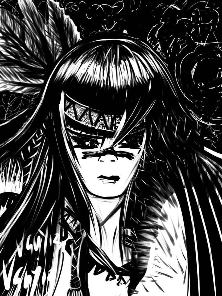 Black and White illustration on I pad
