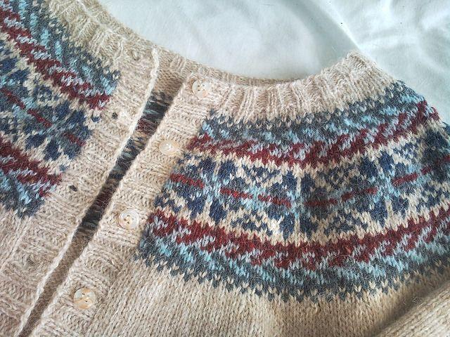 Project Gallery for Fair Isle Yoke Cardigan pattern by Elizabeth Zimmermann