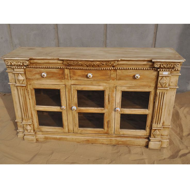 Solid Wood Buffet Cabinet Credenza Dining Room Sideboard Furniture ...