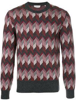 Suéter com estampa geométrica