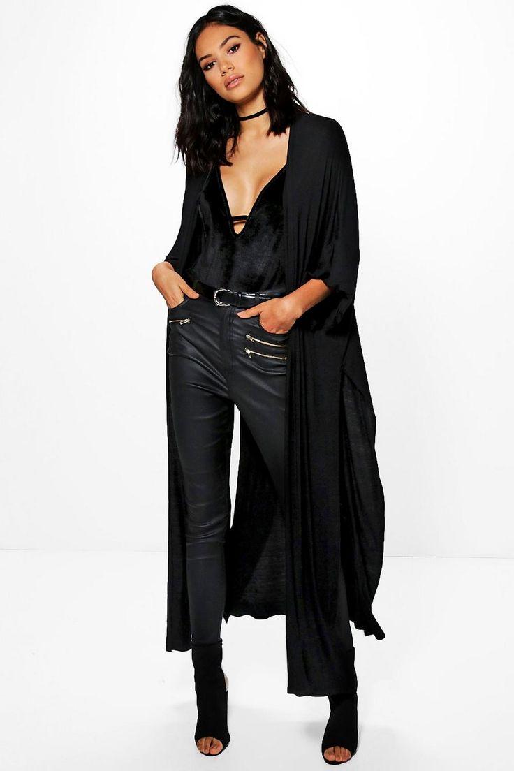 Diana Oversized Side Split Maxi Length Kimono