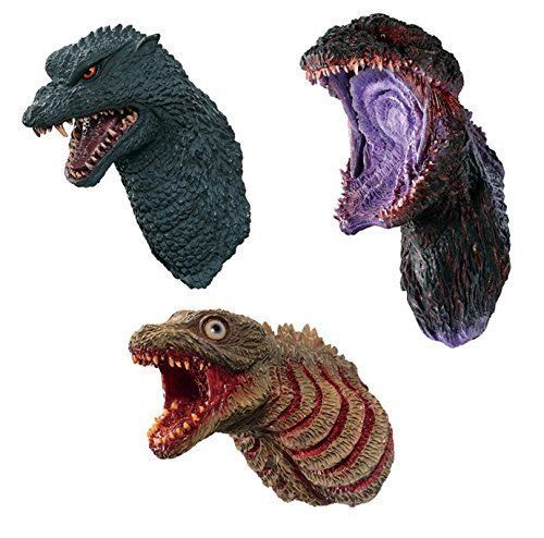 Banprest GODZILLA monster planet The monster king evolves Godzilla head magnet #NA