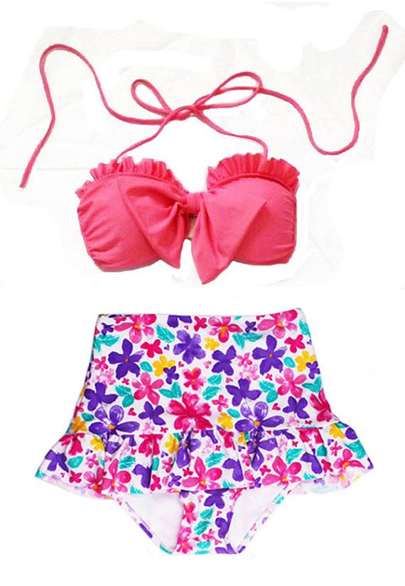 Pink Bow Top and Butterfly Flower Retro High by venderstore, $39.99