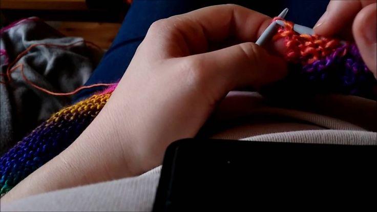 Terminer le châle en pique en ayant suivi le tutoriel vidéo de Fadinou - TUTO ECHARPE QUEUE DE DRAGON AU TRICOT knit scarf dragon tail https://youtu.be/6yp_2...