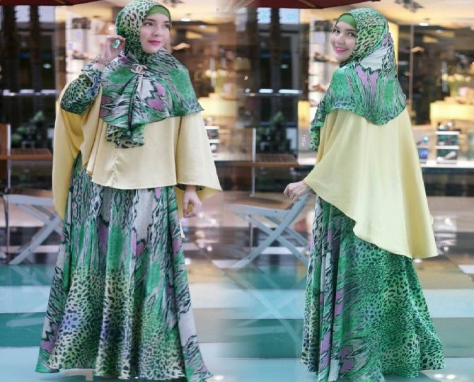 Model Baju Gamis Modern Terbaru 2017