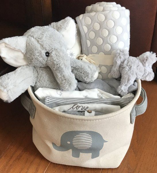 108 best baby gift baskets by fivebrownmonkies images on pinterest asher elephant baby gift basket negle Images